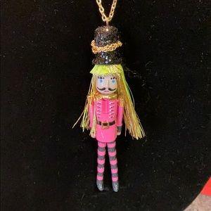 NWOT Betsey Johnson nutcracker necklace